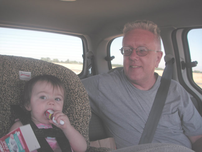 Kylie and Uncle Mike in the back seat